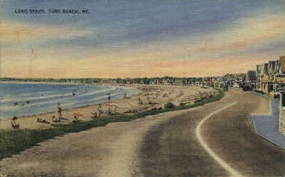 Long Sands - York Beach, Maine ME Postcard