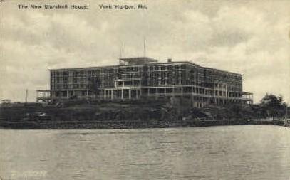 The New Marshall House - York Harbor, Maine ME Postcard