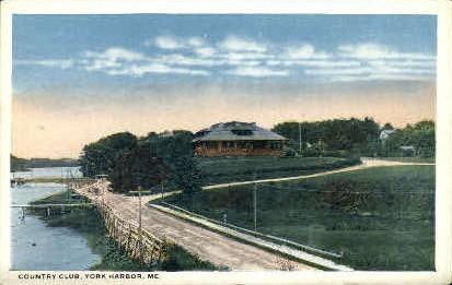 Country Club - York Harbor, Maine ME Postcard