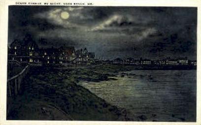 Ocean Ave. - York Beach, Maine ME Postcard