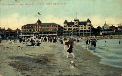 The Fairmount & Wahnita Hotels - York Beach, Maine ME Postcard