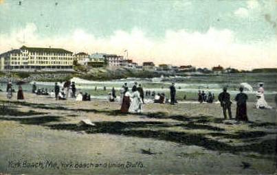 York Beach & Union Bluffs - Maine ME Postcard