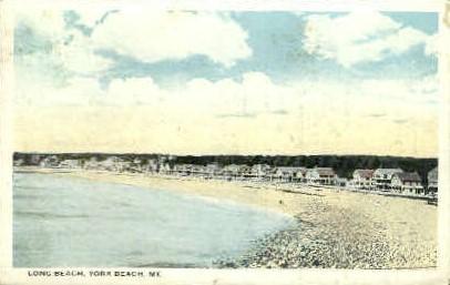Long Beach - York Beach, Maine ME Postcard