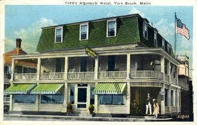 Cobb's Algonquin Hotel - York Beach, Maine ME Postcard