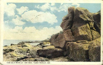 The Old Man of the Sea - York Beach, Maine ME Postcard