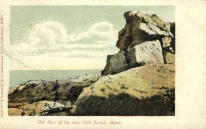 Old Man of the Sea - York Beach, Maine ME Postcard