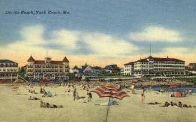 The Beach - York Beach, Maine ME Postcard