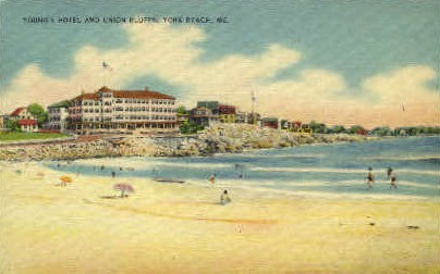 Young's Hotel & Union Bluffs - York Beach, Maine ME Postcard