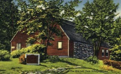 The Old Jail - York Village, Maine ME Postcard