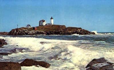 Nubble Light - York Beach, Maine ME Postcard