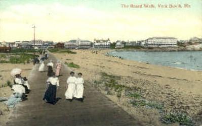 The Board Walk - York Beach, Maine ME Postcard