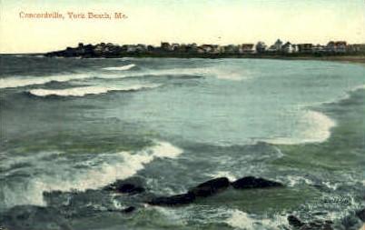 Concordville - York Beach, Maine ME Postcard