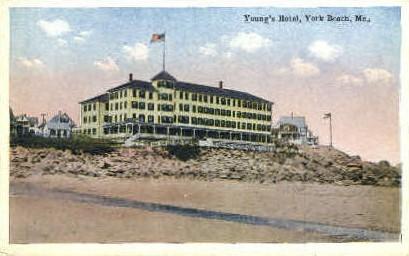 Young's Hotel - York Beach, Maine ME Postcard