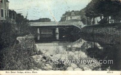 Erie Street Bridge - Albion, Michigan MI Postcard