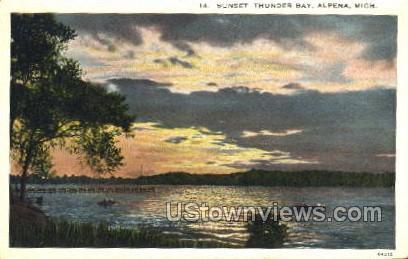 Thunder Bay - Alpena, Michigan MI Postcard