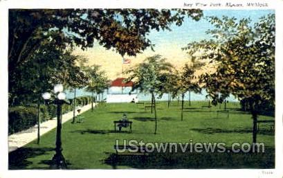 Bay View Park - Alpena, Michigan MI Postcard