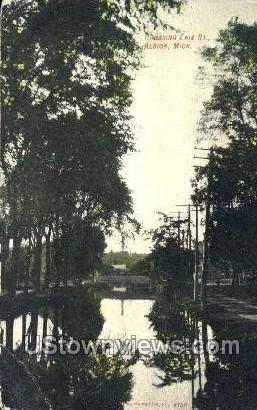 Erie Street - Albion, Michigan MI Postcard