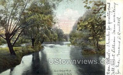 Scene in Park - Ann Arbor, Michigan MI Postcard