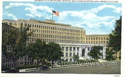 University Hospital - Ann Arbor, Michigan MI Postcard