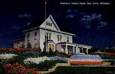 American Legion Home - Ann Arbor, Michigan MI Postcard