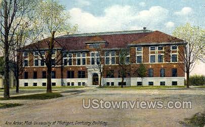 University of Michigan, Dentistry Building - Ann Arbor Postcard