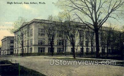 High School - Ann Arbor, Michigan MI Postcard