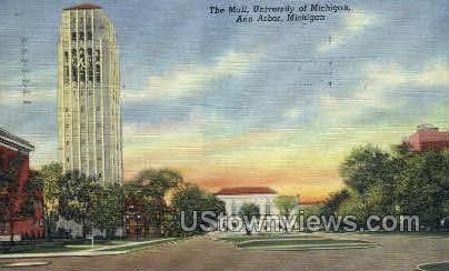 The Mall, University of Michigan - Ann Arbor Postcard