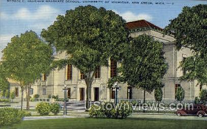 Graduate School, University of Michigan - Ann Arbor Postcard