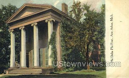 Phi Delta Phi Frat - Ann Arbor, Michigan MI Postcard
