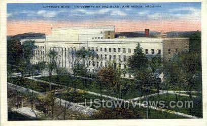 Literary Building, University of Michigan - Ann Arbor Postcard