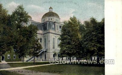 University Hall, University of Michigan - Ann Arbor Postcard