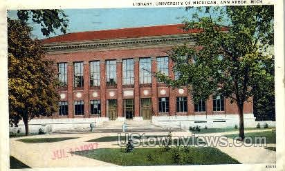 Library, University of Michigan - Ann Arbor Postcard