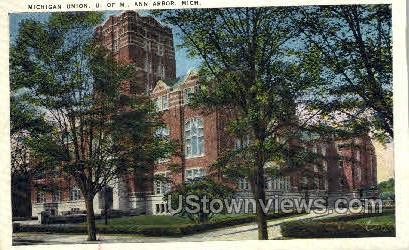 Michigan Union, University of Michigan - Ann Arbor Postcard