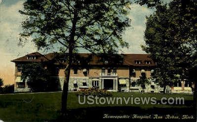Homeopathing Hospital - Ann Arbor, Michigan MI Postcard