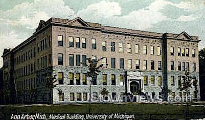 Medical Building, University of Michigan - Ann Arbor Postcard