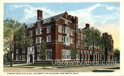 Martha Cook Home, University of Michigan - Ann Arbor Postcard