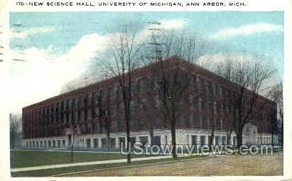 New Science Hall, University of Michigan - Ann Arbor Postcard