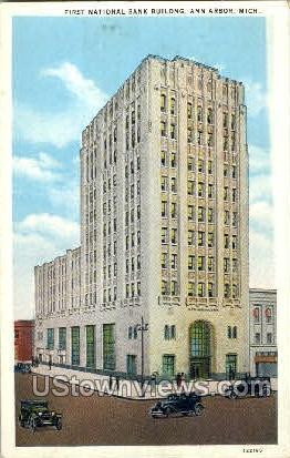 First National Bank Buiulding - Ann Arbor, Michigan MI Postcard