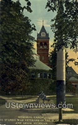 Memorial Canon - Ann Arbor, Michigan MI Postcard