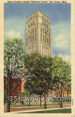 Baird Carillon, Burton Memorial Tower - Ann Arbor, Michigan MI Postcard