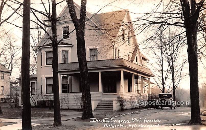 Delta Sigma Phi House - Albion, Michigan MI Postcard