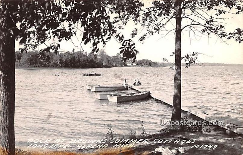Dock at Brown's Summer Cottage - Alpena, Michigan MI Postcard
