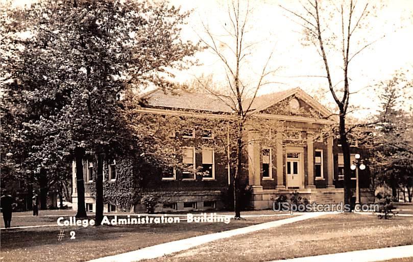 College Administration Building - Albion, Michigan MI Postcard