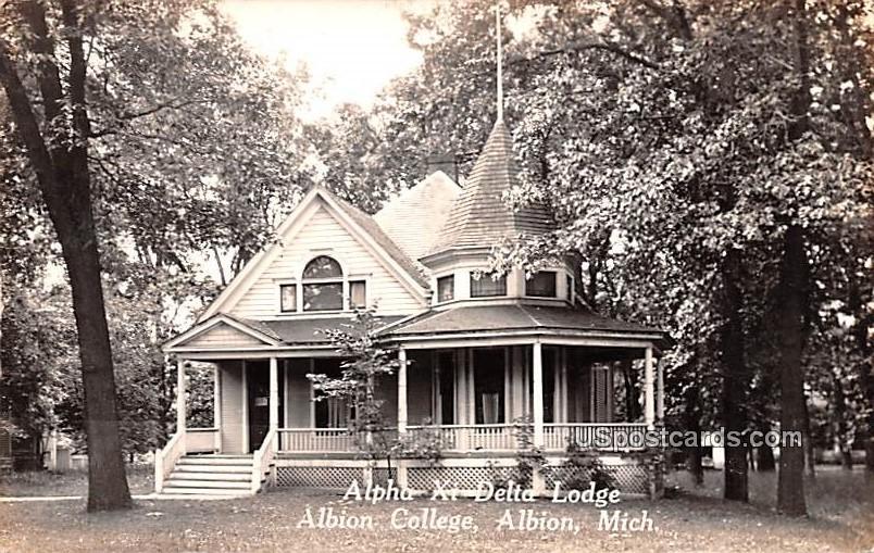 Alpha Xi Delta Lodge - Albion, Michigan MI Postcard