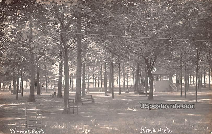 Wright Park - Alma, Michigan MI Postcard
