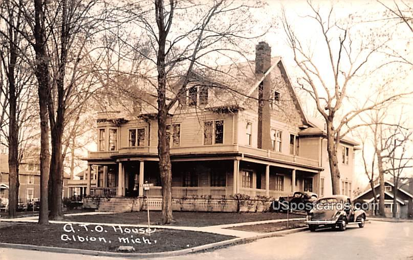 ATO House - Albion, Michigan MI Postcard