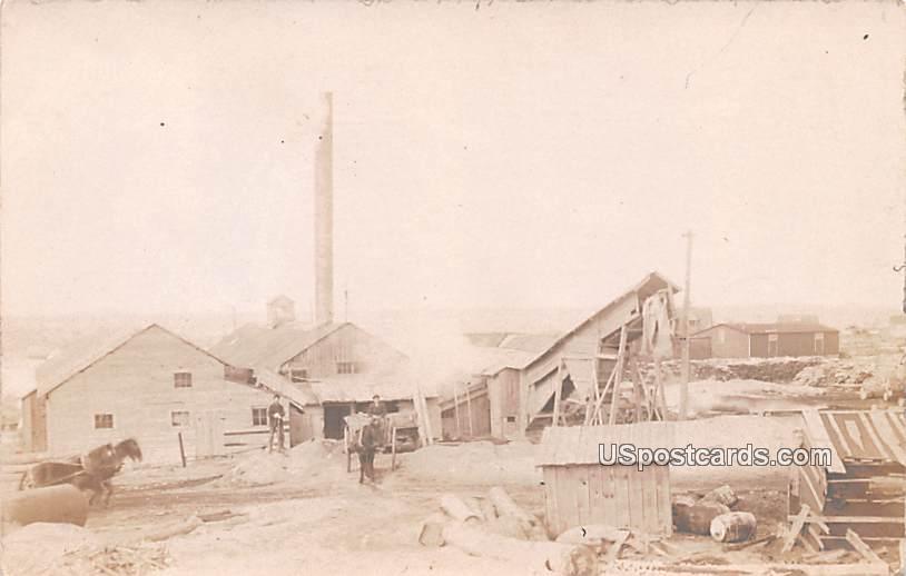 Saw Mill - Albion, Michigan MI Postcard