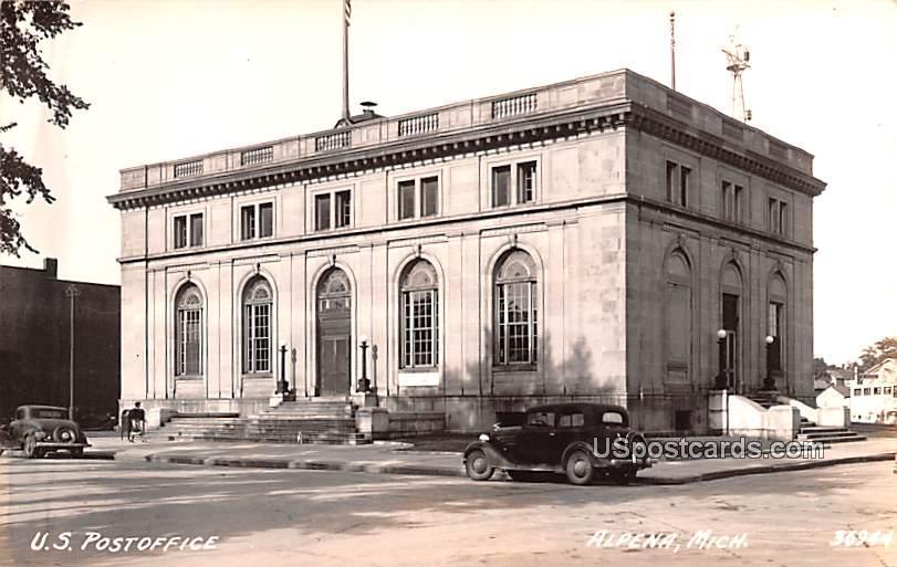 US Post Office - Alpena, Michigan MI Postcard