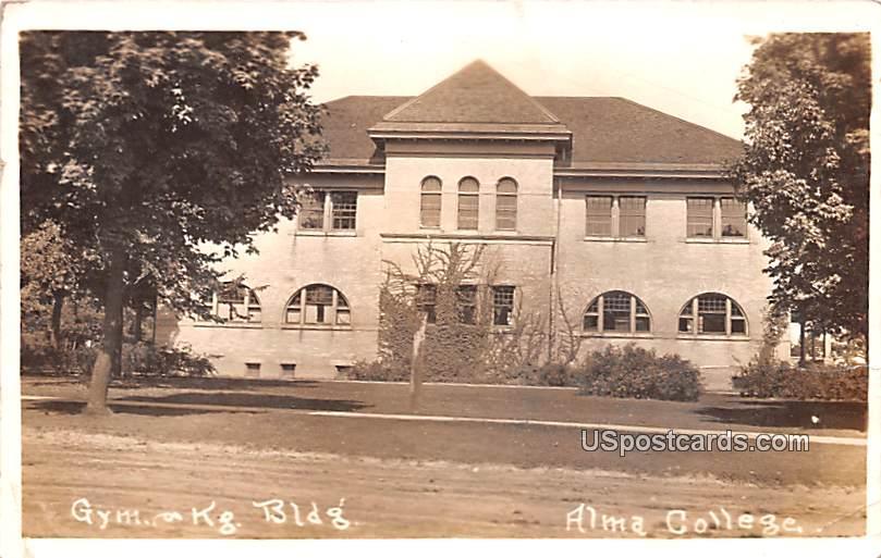 Gym Kg Building - Alma, Michigan MI Postcard
