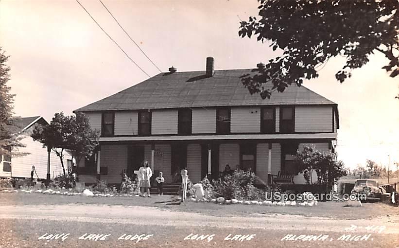 Long Lake Lodge - Alpena, Michigan MI Postcard